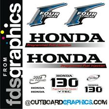 Honda BF 130hp 4 stroke outboard engine decals/sticker kit