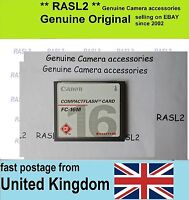 Original Canon 16MB Compact Flash Card CF card  FC-16M 16 MB CF memory card  UK