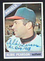 Albie Pearson #83 signed autograph auto 1966 Topps Baseball Trading Card