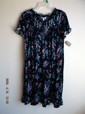 Women's nightgown knit size XL NWT short lounge wear Navy blue with flowers