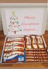 GALAXY CHOCOLATE HAPPY CHRISTMAS  SELECTION BOX GIFT HAMPER SET PERSONALISED