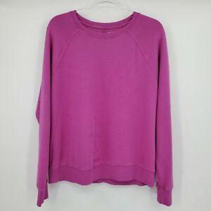 Athleta Sundown Sweatshirt Womens Medium Magnolia Purple