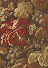 Antique 1870 Berries and Floral Fabric