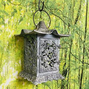 Vintage Partylite Pagoda Style Green Patina Verde Ivy Garden Hanging Lantern