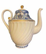 """Lomonosov Porcelain Cobalt Frieze 8"""" Coffee Pot Teapot AUTHENTIC RUSSIAN"""