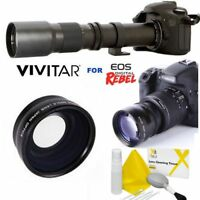 500MM HD ZOOM TELEPHOTO LENS +  WIDE ANGLE LENS FOR CANON EOS REBEL ALL MODELS