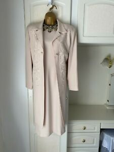 """Condici Size Uk 16 Lined Dress/Jacket With Pearl/Embroidered Detail Bust 40"""""""
