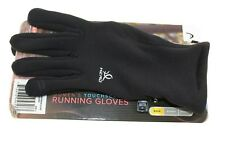 WOMAN'S TOUCH SCREEN GLOVES BLACK THEMAL GRID RUNNING GLOVES LARGE NEW