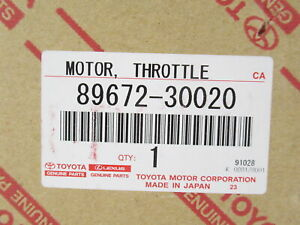 Genuine OEM Toyota Lexus 89672-30020 Motor Throttle Control