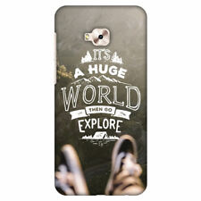 Explore The World HARD Protector Case Snap On Slim Phone Cover Accessory