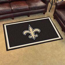 New Orleans Saints 4' X 6' Decorative Ultra Plush Carpet Area Rug