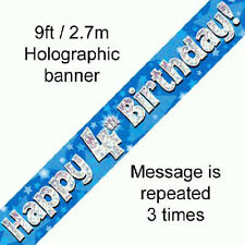 boys happy 4th birthday party foil banner 4 today decoration blue banners