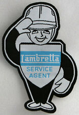 Lambretta Man Woven Patch, Iron on, motor scooter, scooters, mods