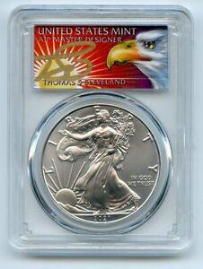 2021 (P) $1 Emergency Issue American Silver Eagle PCGS MS70 FDOI Cleveland Eagle