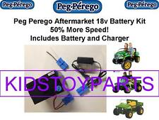 18V BATTERY &CHARGER CONVERSION PEG PEREGO JOHN DEERE GATOR $20 CASH BACK OPTION