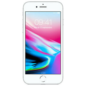 iPhone8  silver 128G USED UNLOCKED Smartphone