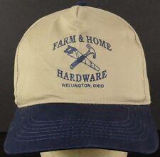 Farm & Home Hardware Grey Blue Baseball Hat Cap with Snapback Strap Adjust