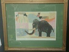 Framed Laura Fiume Print Il Paradiso Terrestre Elephant