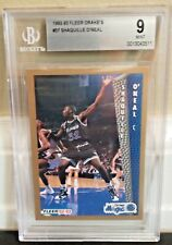 New listing 1992-93 Fleer Drake's Shaquille O'neal Shaq RC Rookie Card  BGS Graded 9 MINT