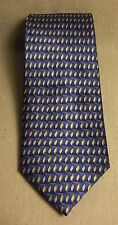 Boys New Non-Branded Bue and Gold 100% Silk Neck Tie