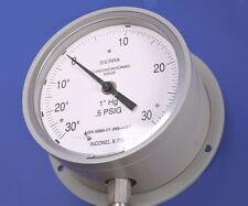 "Both Vacuum And Pressure Gage by Sierra 0-30Psi Or 30mm/Hg Sc4Nd30Cwronag 4.5"" D"