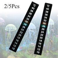 aquarium stock thermograph temperatur messen. thermometer aufkleber celsius