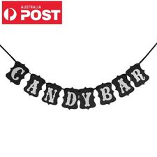 Candy Bar Sign Bunting Banner Wedding Engagement Baby Shower Party Decoration