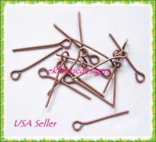 18mm 150pc Antique Copper Bronze Eyepins Head Jewelry Findings Earrings Necklace