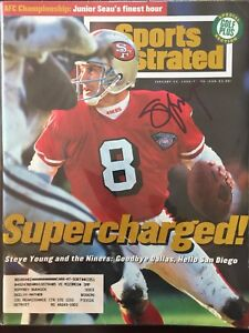 Steve Young Signed Sports Illustrated 1/23/95 Issue  SF 49ers NFL HOF BYU