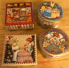 4 New/Shrinkwrapped Mary Engelbreit Trinket Boxes, Pooch Brand Plus Magnet