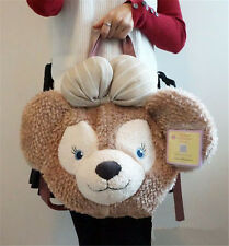 Disney ShellieMay Bear Big plush Tote Bag Japan Sea Gifts NEW