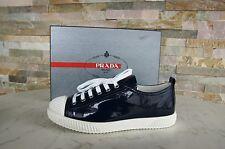 Prada Gr 39,5 Sneakers 3E5876 Lackleder Schuhe shoes royal blau NEU UVP 350€