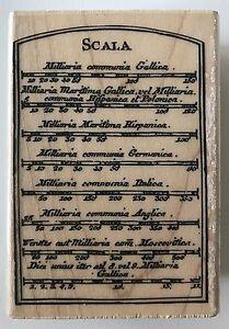 "Hampton Art Rubber Stamp Scala Scale Chart Italian PS0672 3.25"" x 2.2"" 7 Gypsies"