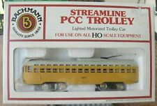 Streamline PCC TROLLEY HO Scale BACHMANN Model train toy complete WITH BOX #7407
