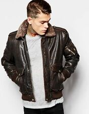 DIESEL L-TARUN BROWN LEATHER JACKET SIZE XL 100% AUTHENTIC