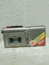 Sony 2 Speed Micro Cassette Voice Recorder M-435P Mic 24 hr Record Counter 2 Aa