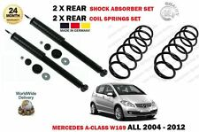 FOR MERCEDES A CLASS ALL W169 2004-> 2X REAR SHOCK ABSORBER SET + 2X COIL SPRING