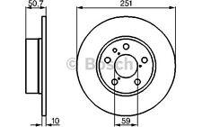 BOSCH Juego de 2 discos freno Trasero 251,5mm FIAT ALFA ROMEO 147 0 986 478 341