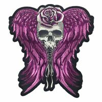 """LT30226 Lethal Threat Embroidered Renegade Skull Patch 10/"""" x 13/"""""""