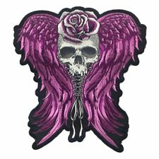 Lethal Threat Angel Corset Wings Skull Biker Motorcycle Goth Large Patch LT30229