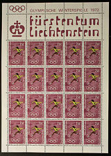 Francobollo LIECHTENSTEIN Stamp Yvert e Tellier n°497 x20 Foglio Di Fatto N° Y5