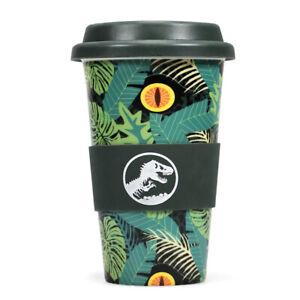 Jurassic Park Travel Mug Ceramic 280ml with Silicone Lid from Half Moon Bay