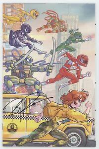 Mighty Morphin Power Rangers Teenage Mutant Ninja Turtles 1 2 Comicspro Signed
