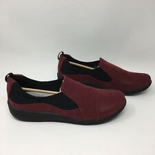 Clark's Cloudsteppers Sillian Paz Burgundy Women's Loafer Size 12N