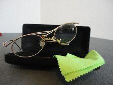 Ladies Casanova Venezia Eyeglass Frames,Gold W/Multicolors- Lc-33/W Case- Italy