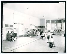 2 Large Vintage Photos: SCHOOL CLASSROOM - CHILDREN AT PLAY