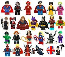 Super Héroes Minifiguras Lego Personalizado + superhéroe solo Mini Figuras Minifiguras