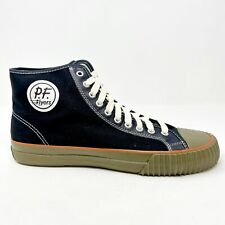 PF Flyers Center Hi Black Brown Mens Casual Shoes PM14OH1K