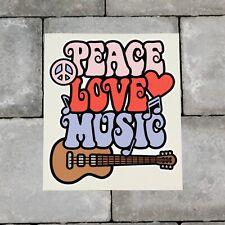 Colourful Peace Love Music Symbol CND Vinyl Sticker Decal Car Van Bike - SKU6581