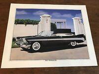 1957 Plymouth Art Lithograph Print 11 X 14 Artist K. Yeszin (HD11)